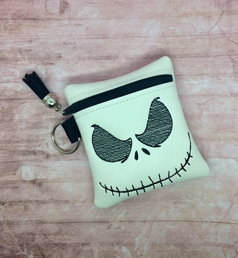 Jack Skeleton Zipper Bag 4x4 Embroidery Design